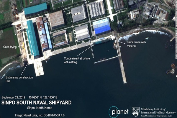 CNNがプラネット・ラブズ社から入手した衛星写真/Planet Labs, Inc/Middlebury Institute of International Studies at Monterey